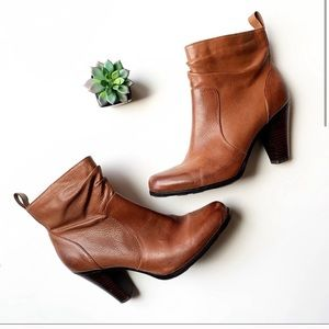"""Sofft Leather Upper Ruched 3"""" Bootie"""